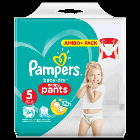 Pampers Baby-Dry Pants Gr.5 (12-17kg) Jumbo+ Pack