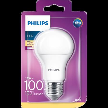PHILIPS LED Lampe 100W E27 matt