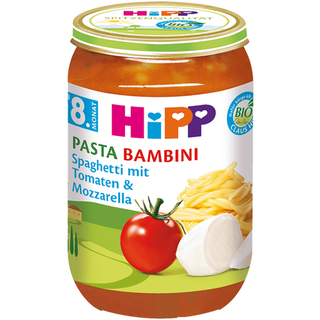 HiPP Spaghetti mit Tomaten & Mozzarella