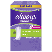 Bild: always dailies Slipeinlagen slim multiform fresh giga pack