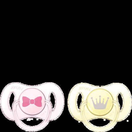 PHILIPS AVENT Schnuller Mini, 0-2 Monate, rosa/gelb