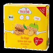 Bild: FruchtBar 6 Bio Fruchtriegel mit Getreide Aprikose Apfel Hafer