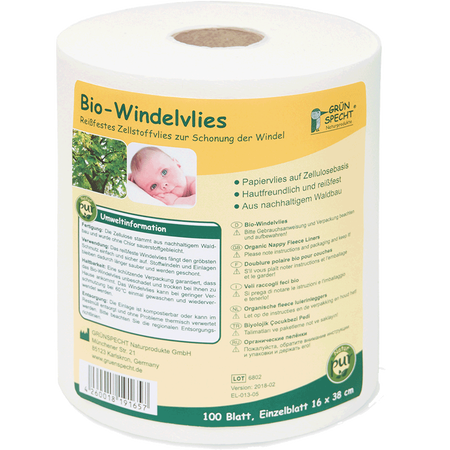 Grünspecht Bio Windelvlies