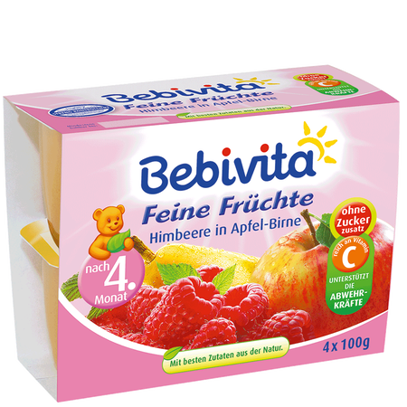 Bebivita Himbeere in Apfel-Birne Becher