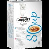 Bild: GOURMET Crystal Soup Thunfisch garniert mit Garnelen, Thunfisch und Sardellen