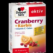 Bild: DOPPELHERZ Cranberry + Kürbis Kapseln