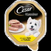 Bild: Cesar Hundefutter Klassiker mit zartem Huhn und Truthahn