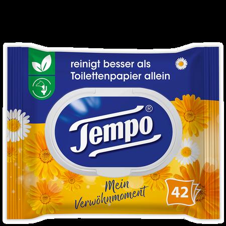 Tempo Feuchte Toilettentücher Mein Verwöhnmoment Calendula & Kamille