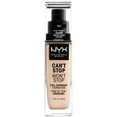 Bild: NYX Professional Make-up Can't Stop Won't Stop 24-Hour Foundation pale