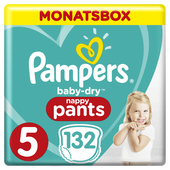 Bild: Pampers Baby Dry Pants Gr.5 Junior 12-17kg MonatsBox