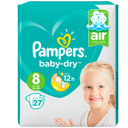 Pampers Baby-Dry Gr. 8 (17+kg) Value Pack