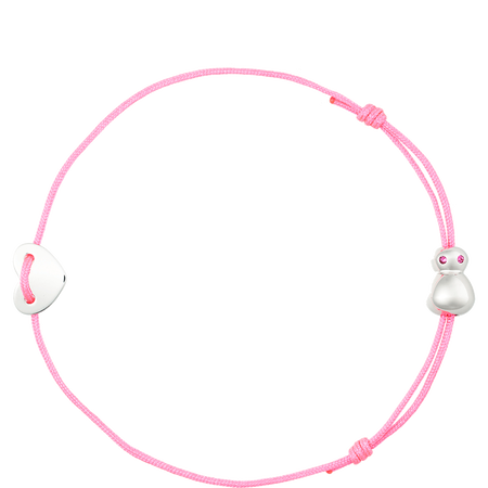 nomi flea goes around comes around Armband pink