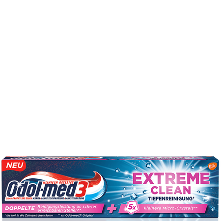 Odol-med3 Zahncreme Extreme clean Tiefenreinigung