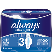 Bild: always ultra light Binden Night mit Flügeln