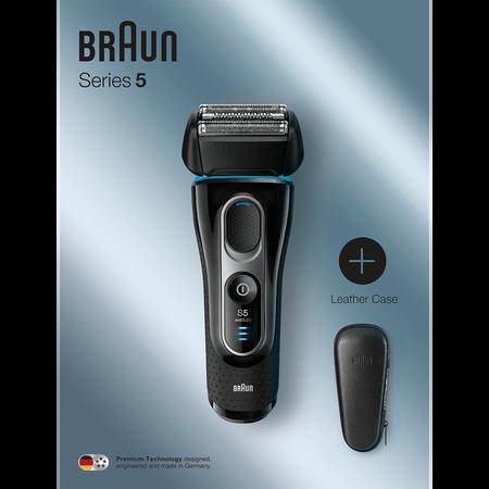 Braun Series 5 Elektrorasierer mit Leder Etui
