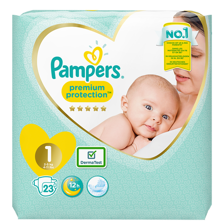 Pampers Premium Protection Newborn Gr. 1 (2-5kg)
