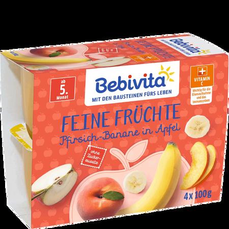 Bebivita Pfirsich-Banane in Apfel Becher