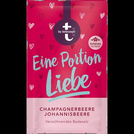 t: by tetesept Eine Portion Liebe Badesalz