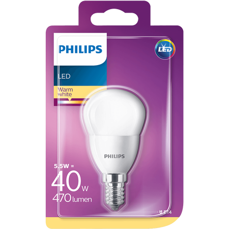 PHILIPS LED Tropfenlampe 40W E14 matt