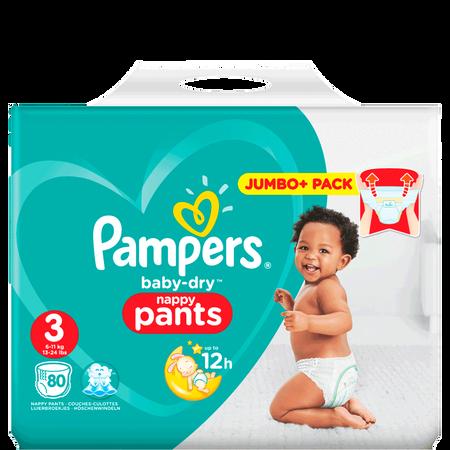 Pampers Baby-Dry Pants Gr. 3 (6-11kg) Jumbo Plus Pack