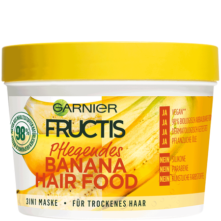 GARNIER FRUCTIS Pflegendes Banana Hair Food 3in1 Maske