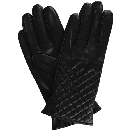 LOOK BY BIPA Kunstlederhandschuhe mit Steppmuster schwarz
