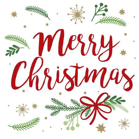 Servietten Merry Christmas