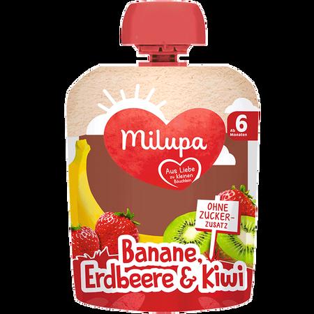 Milupa Quetschbeutel Banane, Erdbeere & Kiwi
