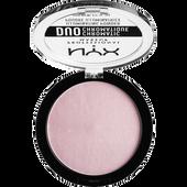 Bild: NYX Professional Make-up Duo Chromatic Illuminating Powder lavender steel