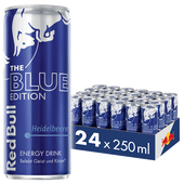 Bild: Red Bull Energy Drink Blue Edition Heidelbeere 24er Palette