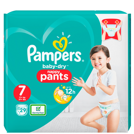 Pampers Baby-Dry Pants Gr. 7 (17+kg) Value Pack