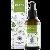 Bild: NATURE LOVE Vitamin D3 + K2 Tropfen