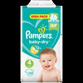 Bild: Pampers Baby-Dry Giga Pack Gr. 4 (9-14kg)