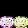 Bild: PHILIPS AVENT Schnuller Freeflow, 18 Monate+, Tiere grün/rosa