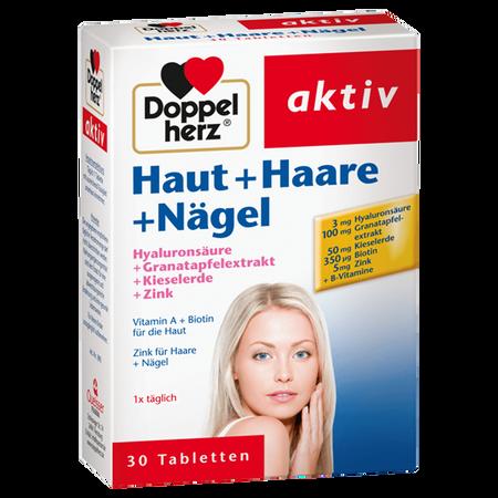 DOPPELHERZ Haut + Haare + Nägel Tabletten