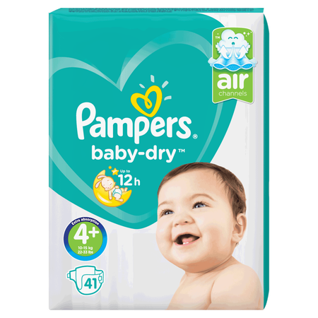 Pampers Baby-Dry Gr. 4+ (10-15kg) Value Pack