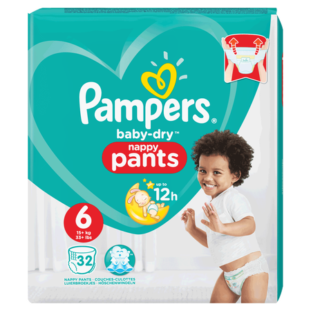 Pampers Baby-Dry Pants Gr. 6 (15+ kg) Value Pack