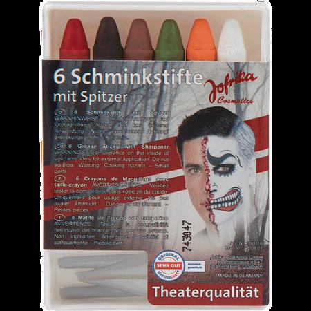 Jofrika Schminkstifte Halloween mit Spitzer