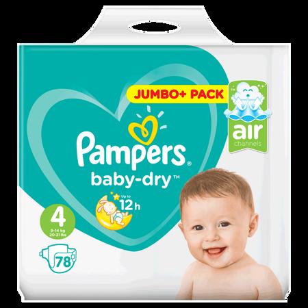 Pampers Baby-Dry Gr. 4 (9-14kg) Jumbo+ Pack