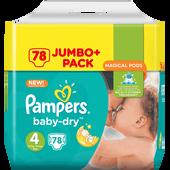 Bild: Pampers Baby-Dry Gr. 4+ (10-15kg) Jumbo+ Pack