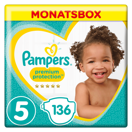 Pampers Premium Protection Gr.5 Junior 11-16kg MonatsBox