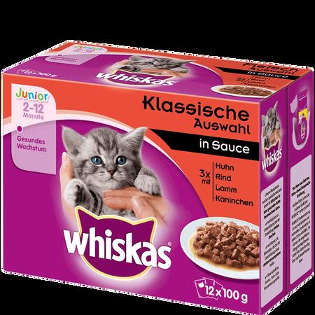 Whiskas Junior Klassische Auswahl in Sauce