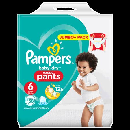 Pampers Baby-Dry Pants Gr. 6 (15+kg) Jumbo+ Pack