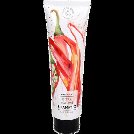 Bild: Hands on Veggies Bio Volumen Shampoo Chili & Litsea  Hands on Veggies Bio Volumen Shampoo Chili & Litsea