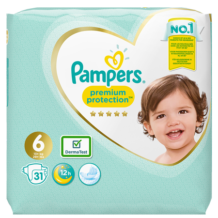 Pampers Premium Protection Gr. 6 (13+kg) Value Pack
