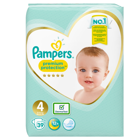 Pampers Premium Protection Gr. 4 (9-14kg) Value Pack