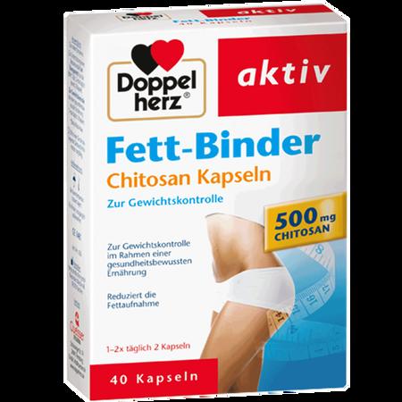 DOPPELHERZ Fett-Binder Chitiosan Kapseln