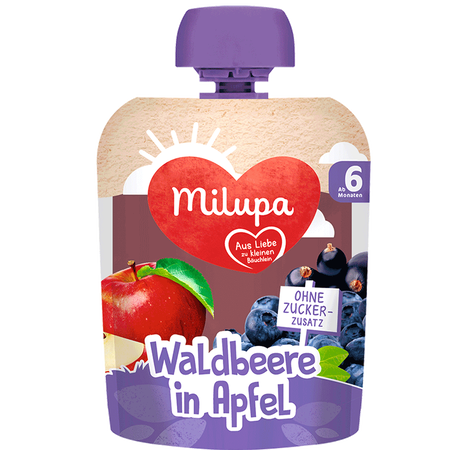 Milupa Quetschbeutel Waldbeere in Apfel