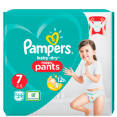 Bild: Pampers Baby-Dry Pants Gr. 7 (17+kg) Value Pack