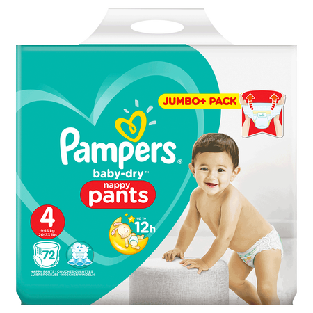 Pampers Baby-Dry Pants Gr. 4 (9-15kg) Jumbo+ Pack